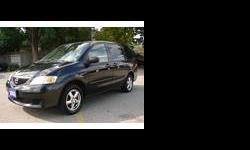 2003 Mazda MPV 6 Cyl.,3.0 Lt., Auto,loaded,excellent condition,CARPROOF VERIFIED, Low kms.,power windows,power door locks,power mirrors,rear air,cd,tilt,cruise,alloy rims,and much more.Very clean and reliable family vehicle;Looks and drives great!!Priced