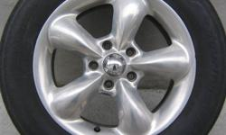 (4) - 16 inch Chrome Rims with 5 bolt pattern. Will fit most mid to full size cars. Will fit a P22560R16 tire.