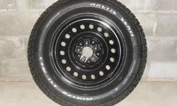 """4 """"Arctic Claw Winter XSi M+S""""  winter tires made by Cooper, mounted and balanced on 17 inch black metal rims, 245/70R17.  Were used on a Nissan Murano for only two winters. Just traded in the Murano, so tires must go!  Very aggressive tread.  Excellent"""