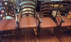 2 CAPTAINS CHAIRS WITH ARMS 2 REGULAR CHAIRS THESE ARE BEAUTIUL OAK CHAIRS Reduced Price !!!