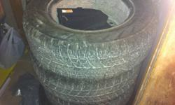 No Longer need these as i have sold my vehicle. they have only 1 and a half winters and are already mounted on rims. with these tires weather conditions will mean very little for you they have been made for canadian winters and by design have been tested
