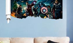 I have 4 Brand New Large Avengers Removable Wall Stickers! These are brand new and high quality vinyl. They would look great in your child's room or to give as a gift. Each sticker measures approximately: 90cm x 46cm (35.4 inches by 18 inches) Comes from