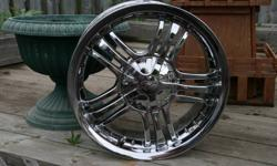 four chrome wheels never seen winter like new    $600 or best offer