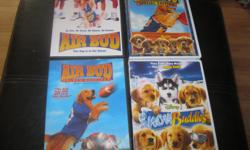 4 DVDS - which includes the following: 1) Air Bud 2) Air Bud - Golden Receiver 3) Air Bud - Special Edition 4) SnowBuddies Selling as a lot - get all 4 for ONLY $20 (works out to be $5.00 per dvd) Can meet in west end of ottawa (kanata) or pickup in