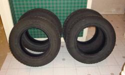 4 - Good year Nordic snow tires P205/70R15. Used for 2 winter seasons. Lots of tread left. Asking $175.00 or best offer. All 4 tires must be sold together.