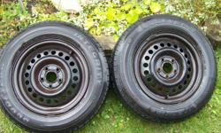 2-excellent condition,2-very good condition  195/70R14.Mounted on Pontiac Sunfire rims......$165.00....OBO(more pics to come)