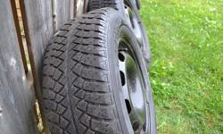 205/65 /15 Dunlop's 4 Great tires w/ a lot of tread, comes with rims. Hardly used. $325.00 OBO   Email or call me. Greg (905) 531-2224 Leave Message