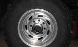 4 Hankook Dynapro ATM LT 265 75R 16 LIKE NEW used 2 months ,mounted on 8 bolt chev Alu Center Line rims ,c/w center caps & nuts ,$1300 obo ,ph 780 723 7620
