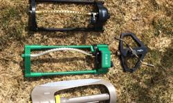 Get ready for that hot weather that is sure to come our way! 4 working lawn sprinklers for watering your lawns & gardens.