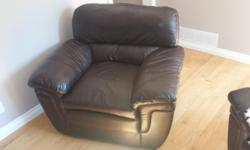 4 brown leather chairs gently used. These chairs retailed $200/chair. Selling 4 for $300.