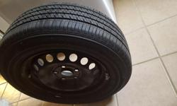 4 NEW BRIDGESTONE ECOPIA EP422 PLUS TIRES (WITH RIMS & LUG NUTS) FOR SALE 195/65 R15 91H M+S TIRES IN VERY GOOD CONDITION