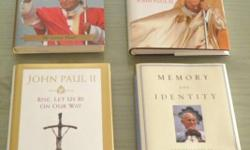 Lot of 4 Pope John Paul II books. The 4 books are as follows:   The Pontiff In Winter: Triumph & Conflict in the Reign of John Paul II: John Cornwell Rise, Let Us Be On Our Way: John Paul II Memory & Identity: Conversations at the Dawn of a Millennium: