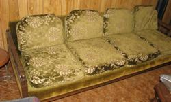 Chesterfield and chair 4 seater solid wood must sell