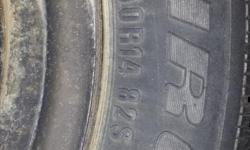 A set of 4 used Tiger Paw Ice & Snow winter tires. Includes rims and good tread left on the tires.