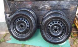 4 all season tires on GM rim for sale. Size is 215/65R17. Would fit Pontiac Montana or Chevrolet Uplander. 6 hole rims. Evertrek, still lots of tire life left. Only $355. We are located in Orleans. See our list of other items for sale. First come, first