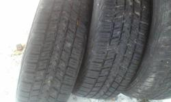I have 4 tires for sale P195 75 R15. 2 of them are BF Goodwrench and the other 2 are Motormaster all 4 are on Pontiac Sunfire Rims. the 2 BF goodwrench tires are like new i am asking $90.00 or best offer for all 4