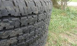 4 TRANSFORCE HT LT 245/75R 16 TIRES - OVER $160 EACH NEW.  THESE TIRES HAVE AT LEAST 85% TREAD LEFT.  I GOT BIGGER TIRES FOR MY TRUCK.  ASKING ONLY $350 FOR THE SET OBO.  HATE TO SEE THEM JUST SITTING HERE.  LOTS OF USE LEFT IN THEM AND GREAT FOR WINTER