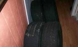 """4 winter tires vg condition lots of tread 215/60R15       """"Winter master plus""""   pics difficult to show tread depth,  estimate 80%  ??   you are welcome to inspect tires"""