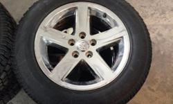 Four 20 inch Dodge Ram Rims. Brand new. Four Avalanche X-Treme 275/60 R20 winter tires. Only used for half a winter. In great shape and stored indoors.