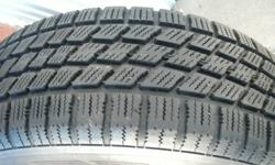 4 tires with 5 bolts rims. Nordic Icetrac P205/60R15. Drives well on ice and snow. Lots of treads. Cleaning my garage, priced to sell. Compatible with Honda Accord, Mazda 626, etc ....