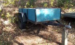 Very well constructed 4' x 8' utility trailer.  Heavy duty frame and axle.  Large tires, steel fenders. Perfect for transporting an ATV, trips to the dump, etc.  Asking $400.00