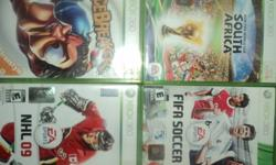 FIFA 11, FIFA World Cup 2010, NHL 09 and Facebreaker. Cd´s in good conditions. NO SCRATCHES.