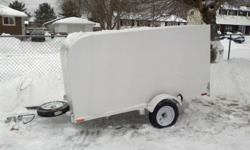 4 ft. by 8 ft. enclosed trailer, built last summer from all new quality components, used only a couple of times, just have no use for it, $1200 OBO. call 767-3231