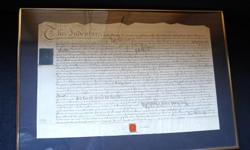 If the item is listed it is still for sale. It is removed immediately when sold. This is a deed contract for farm land in Great Britain for 5 shillings dated 1790. It is between Robert Jackson and Richard Bowes. It is complete with Seal and nicely matted