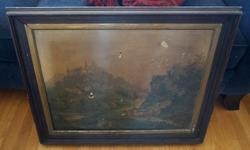 If the item is listed it is still for sale. It is removed immediately when sold. This antique print is damaged but the frame is in great shape. Please check out ALL my listings by simply clicking on: View sellers list, which is under CONTACT USER in the