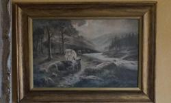 If the item is listed it is still for sale. It is removed immediately when sold. This antique print was professionally framed at one point. It looked so much like a painting that I took it apart to check, It is definitely a print and I took a picture of