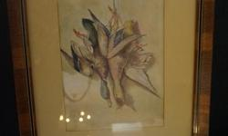 If the item is listed it is still for sale. It is removed immediately when sold. This antique water color is very well done and signed I.B.S. It is 12 1/4 by 6 1/2 inches wide. Please check out ALL my listings by simply clicking on: View sellers list,