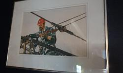 """If the item is listed it is still for sale. It is removed immediately when sold. This water color is signed and done by BILL COTTNAM and is called """"Rigging the Crane"""". This is a well known artist. Please check out ALL my listings by simply clicking on:"""