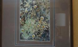 If the item is listed it is still for sale. It is removed immediately when sold. This painting is beautifully matted and signed H. WILKINSON 76. This still life of white daisy's has incredible detailing. Must be seen to be appreciated. The frame is 18 by