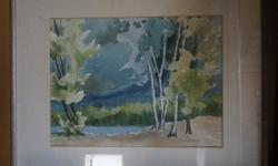 If the item is listed it is still for sale. It is removed immediately when sold. This lovely water color is done by well known artist DONNAH CAMERON. It is 24 inches long by 22 1/2 inches high. Please check out ALL my listings by simply clicking on: View