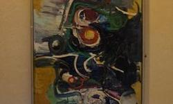 If the item is listed it is still for sale. It is removed immediately when sold. This mid century abstract painting is just fabulous. It is oil on linen canvas and 72 inches long. It is done with thick oil paint using knife pallet technique. It can be