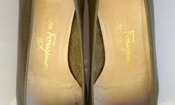 If the item is listed it is still for sale. It is removed immediately when sold. These designer shoes are in great condition. They are made of leather and a very high end shoe by Salvador Ferragauio. I have a green pair and a black pair and they are size