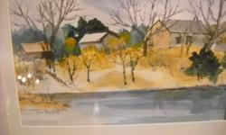 If the item is listed it is still for sale. It is removed immediately when sold. This lovely water color is 15 by 13 inches high. It is signed by JEAN MONTEITH. Please check out ALL my listings by simply clicking on: View sellers list, which is under