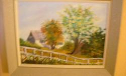 If the item is listed it is still for sale. It is removed immediately when sold. This vintage country scene painting is signed M. Cameron and is an oil on canvas. It is 29 by 16 inches, Please check out ALL my listings by simply clicking on: View sellers
