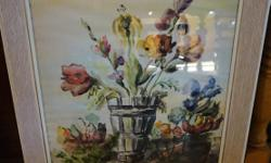 """If the item is listed it is still for sale. It is removed immediately when sold. This beautiful mid century water color is of flowers in a vase and signed in the right corner """"BRUCK 64"""". It is 22 inches wide by 28 inches high. Please check out ALL my"""