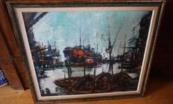 If the item is listed it is still for sale. It is removed immediately when sold. This painting is done by Stuart de Wilden a very well known accomplished Canadian Winnipeg artist. He was born in 1907. This painting is an oil on board and is 27 inches by