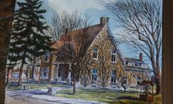 If the item is listed it is still for sale. It is removed immediately when sold. This original water color done by well known artist Ben Babelosky comes with a newspaper write up from 1993. It is the Bell House on Richmond Rd and Bellfield Rd in Nepean.