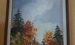 If the item is listed it is still for sale. It is removed immediately when sold. Offered here is a pair of well done oil on canvas paintings signed A. Malone. One is a winter scene and is 18 by 14 inches and the other is a fall scene and 14 by 18 inches I