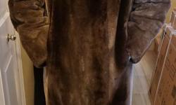 If the item is listed it is still for sale. It is removed immediately when sold. This vintage coat is luxurious phantom sheared beaver with a Lutetia mink collar. It is silky soft and is about a size 10 - 12 ladies. It is in excellent condition. Please