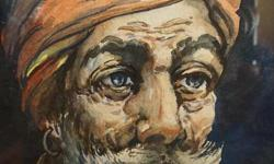 If the item is listed it is still for sale. It is removed immediately when sold. This exceptionally well done portrait water color painting is of an Indian man. It was painted the artist G. D. ThyagaRaj, sometimes given as G. D. Thyaga Raj. His initials
