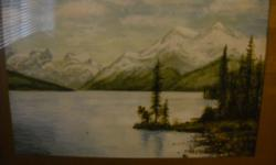 If the item is listed it is still for sale. It is removed immediately when sold. This vintage water color painting is very well done and is signed Mable Leona Green 1907 Miligne Lake. It is 19 by 15 inches high. Please check out ALL my listings by simply