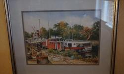 If the item is listed it is still for sale. It is removed immediately when sold. This nicely matted water color is signed and dated George P. Rickard 80. From quick research this artist was born in Niagara Falls Ontario, He has published a book of