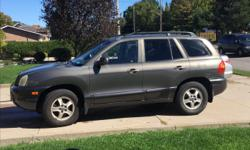 Make Hyundai Model Santa Fe Year 2004 Colour Charcoal Grey kms 17600 Trans Automatic - Selling the family vehicle - purchased a van for more space - new front and back brakes - new tires - new plugs - new alternator and newer battery - no accidents,