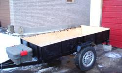 4x8 just freshly built trailer very solid 15in wheels with tongue storage box . the price is 800.00 or best reasonable offer .