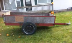 """4x8 trailer for sale heavy duty axel newer 15"""" tires new 2"""" tongue heavy duty frame great trailer at a great price &275.00 o.b.o This ad was posted with the Kijiji Classifieds app."""