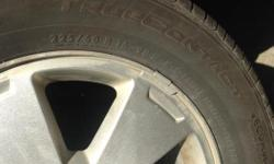 Four Continental True Contact tires. All season. On Chevrolet Alloy rims 225/60 R 16 Only 2 months wear